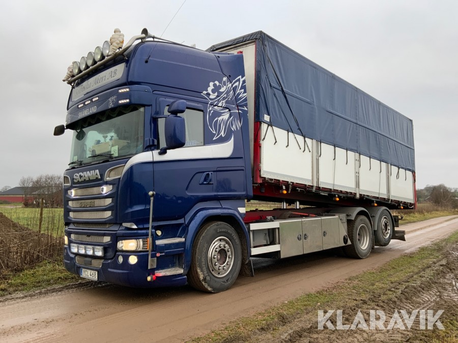 Spannmålsekipage Scania R580 6x2
