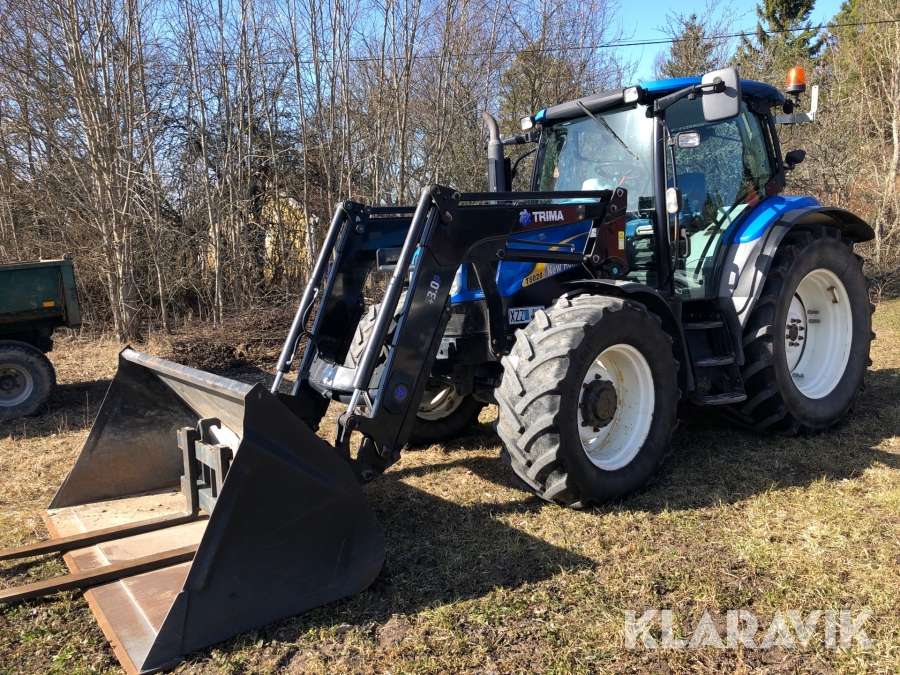Traktor New Holland T6020 med frontlastare